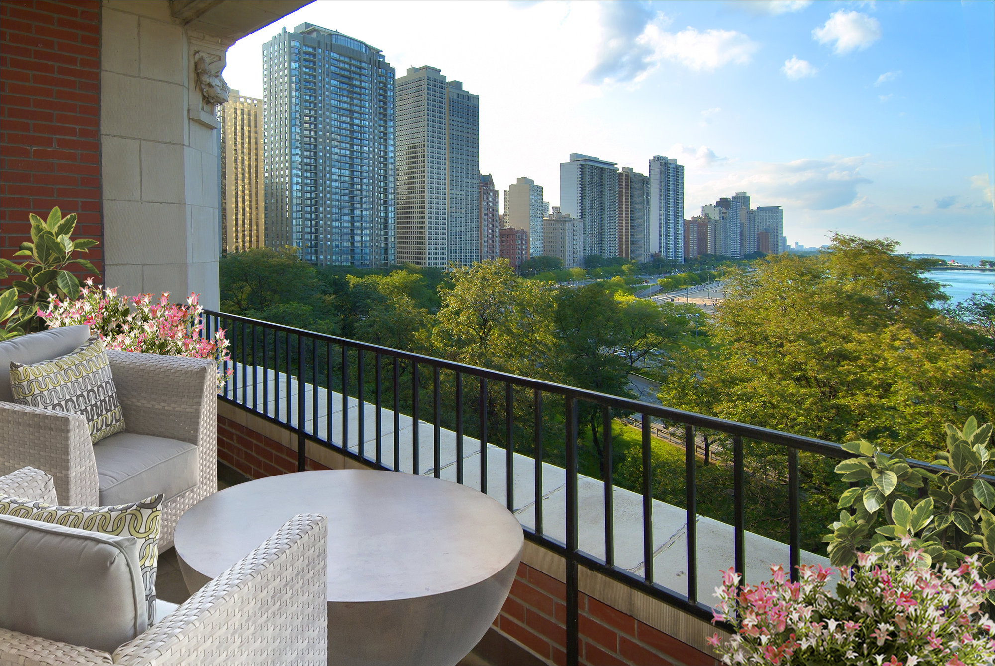 Streeterville condos with private balconies