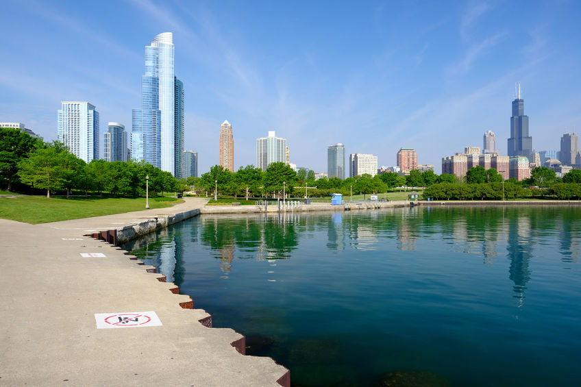 South Loop Condo Buildings with Views of the Lake